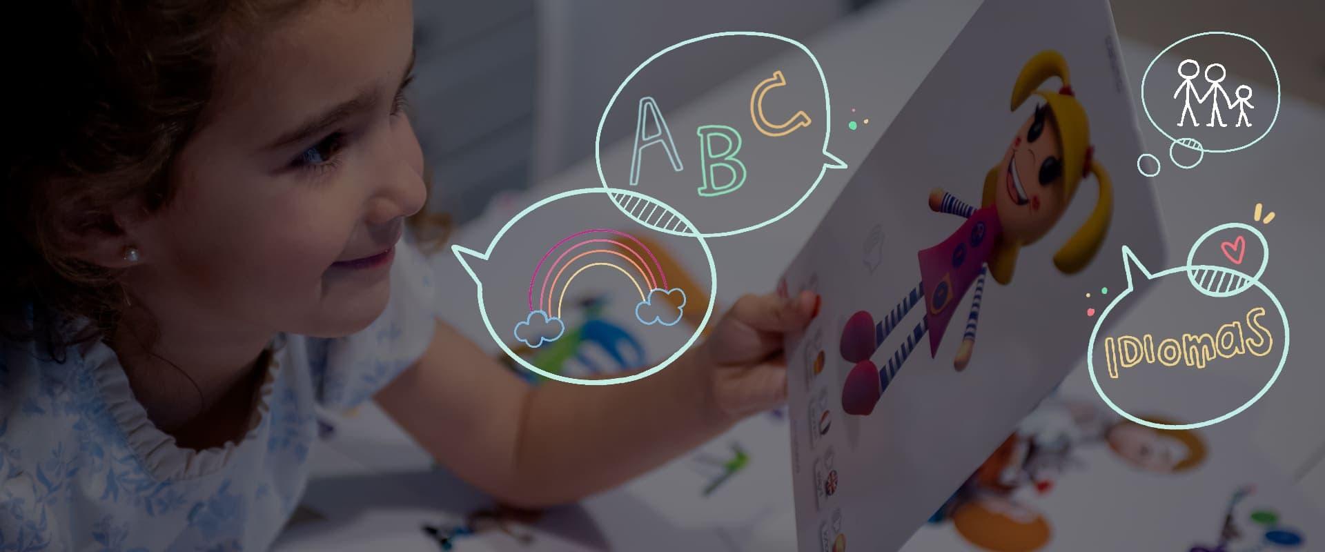 Enseñanza de idiomas para niños y niñas de 0 y 7 años